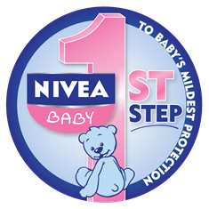 Nivea Baby 1st Step to your baby's mildest protection