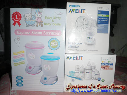 Philips Avent Baby feeding Bottles, Bebeta sterilizer, Avent breast pump