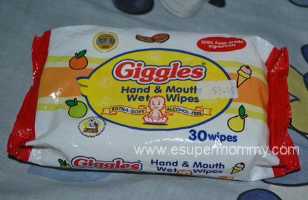 Giggles Hand and Mouth Wet Wipes