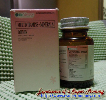 Obimin prenatal vitamins and minerals