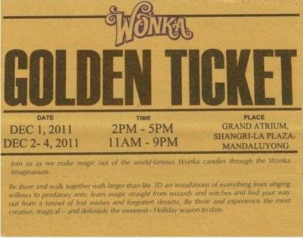 wonka imaginarium golden ticket