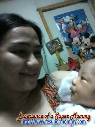 Breastfeeding Filipino mom