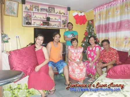 Family Christmas celebration at home