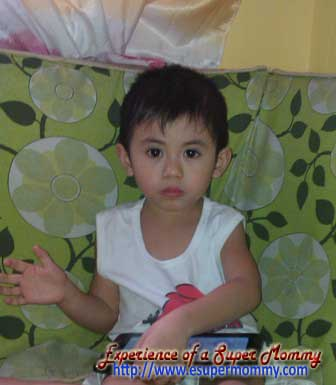 Filipino toddler on tantrums