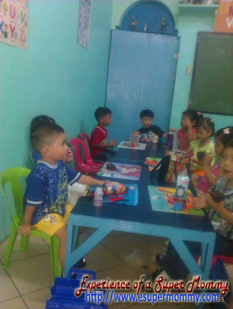 filipino toddler in learning center