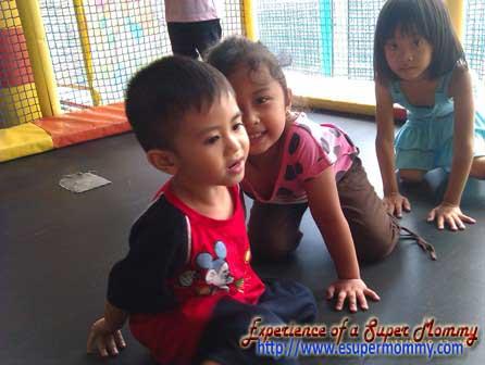 Filipino toddler at active fun