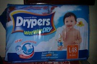 Drypers diaper jumbo pack