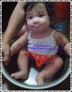 Cute Filipino Baby Girl Photo in the tub