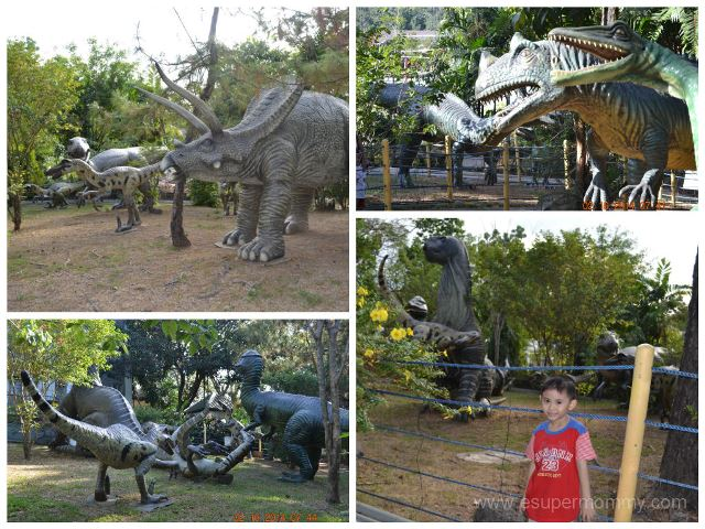 Sitio Lucia Dinosaur with kid