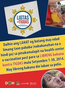 #LigtasTigdas DOH Measles Campaign 2014