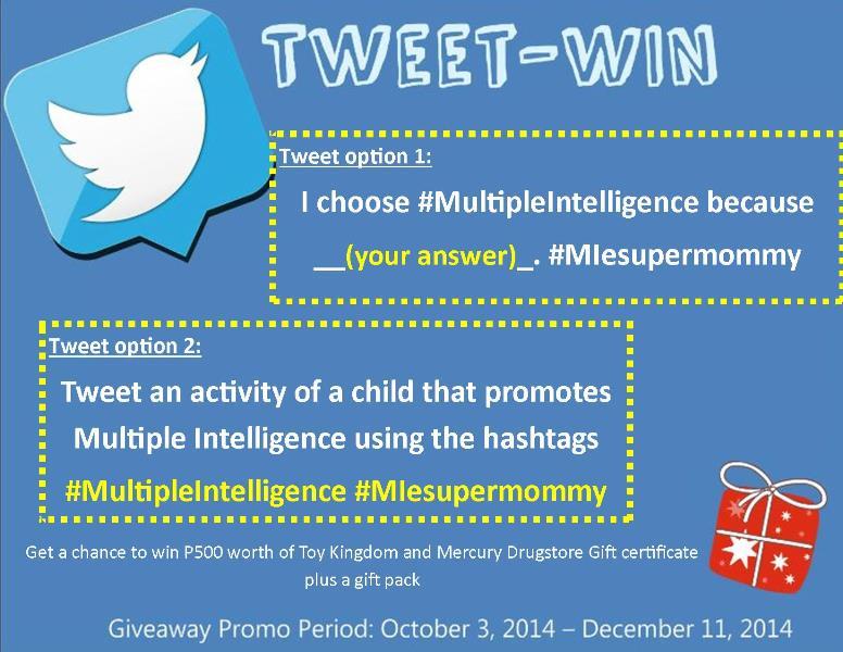Tweet-Win I Choose  Multiple Intelligence Promo Week 6