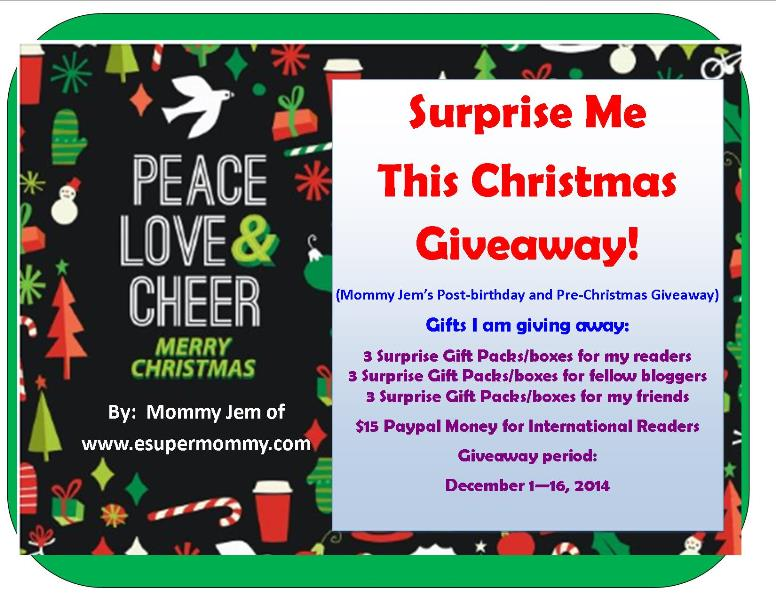 Surprise Me This Christmas Giveaway