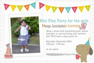 Birthday Invitation Card using HP Photo creations