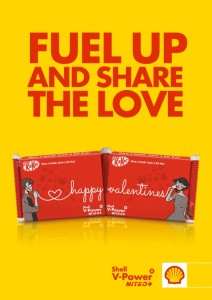 Get a Limited-edition KIT KAT Valentine Pack with Shell V-Power Nitro+