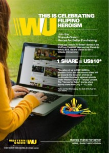 Western Union Share-a-Dream Fund Raising Campaign