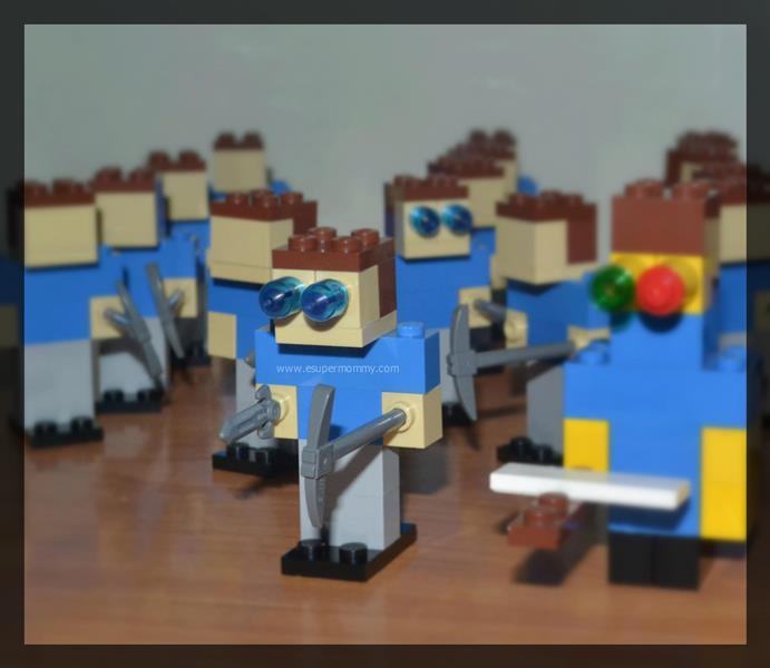 Do-it-yourself Lego Minecraft Robot Steve