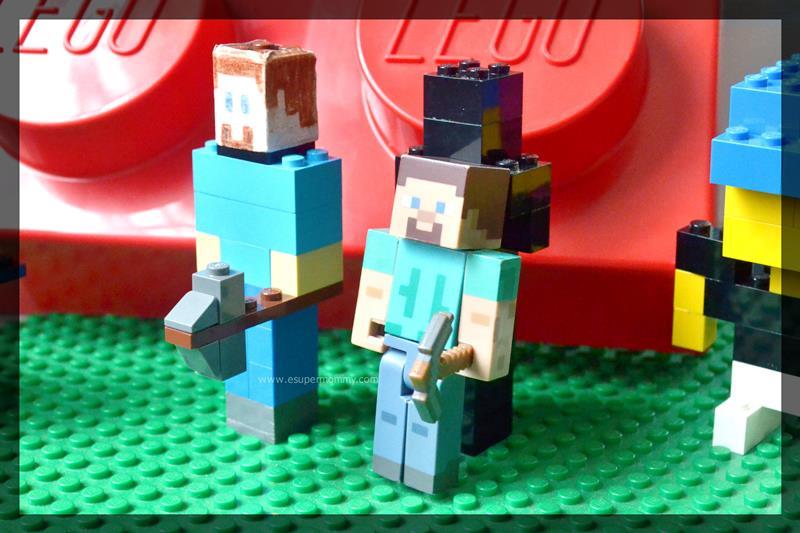Minecraft Steve and Lego Minecraft Steve DIY