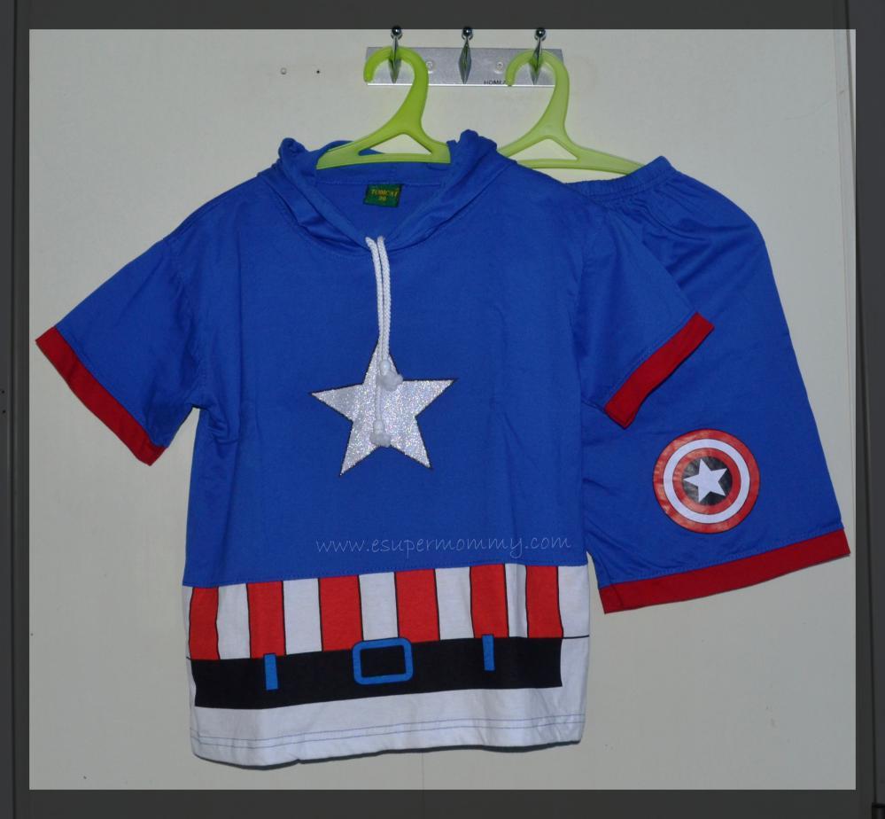 Gift for boys - Captain America shirt