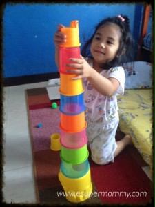 Stacking Toys Promote Cognitive Development in toddlers