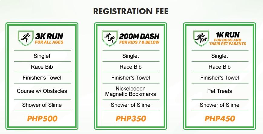 Nickelodeon Slime Cup Registration fee