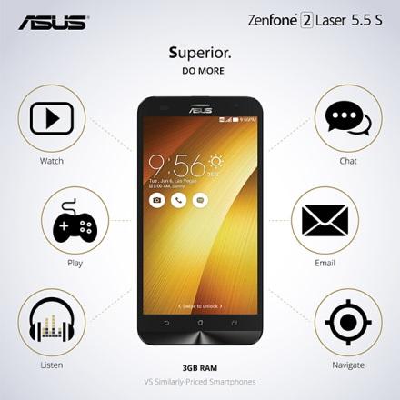 ASUS Zenfone 2 laser inforgraphic