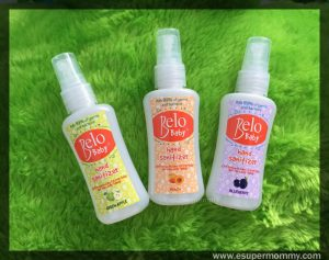 Introducing: New Belo Baby Hand Sanitizers